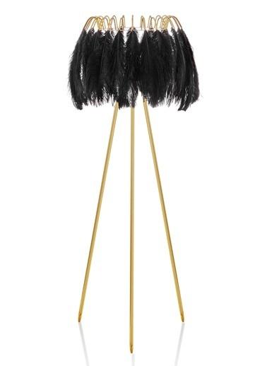 The Mia Kuş Tüyü Abajur 165 x 50 Cm Siyah